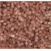 Square Beads 2.6x2.6mm Square Hole Pink Luster Matte